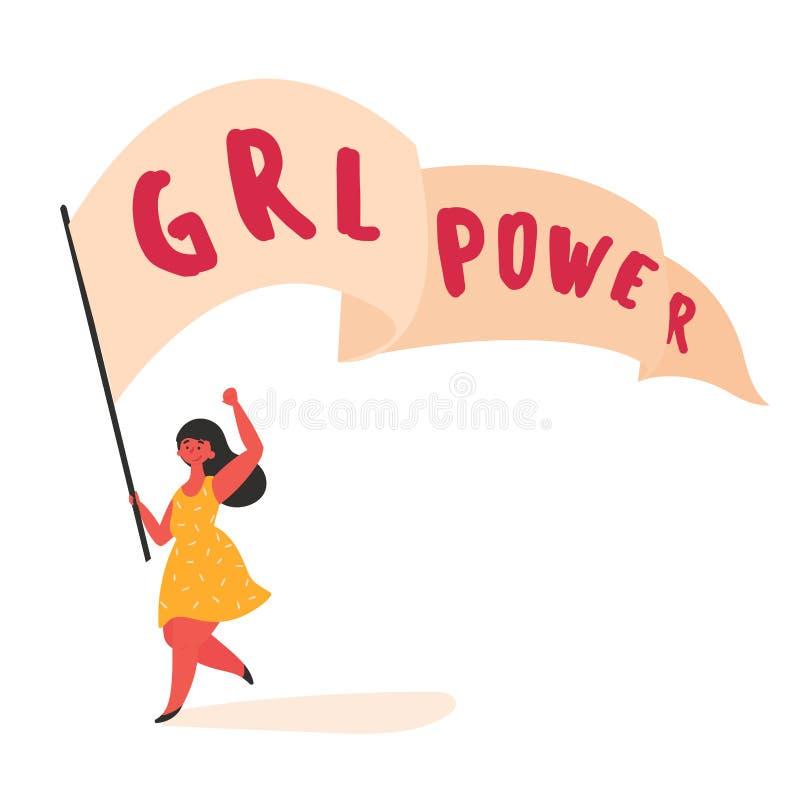Frau mit Mädchen grl Energieausläufer Schnitt bereit lizenzfreie abbildung