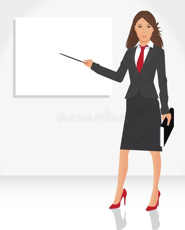Frau mit Nadelanzeige vektor abbildung