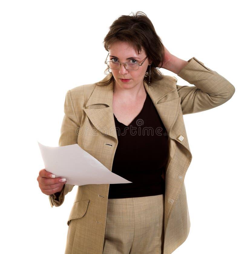 Frau mit sauberem Blatt stockfotos