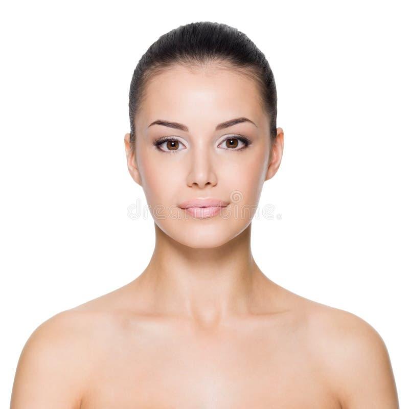 Frau mit schönem Gesicht stockfotografie