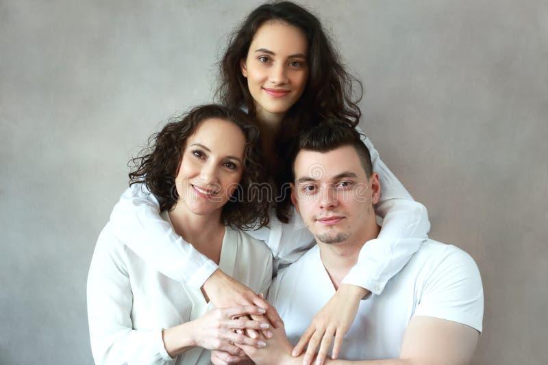 Frau mit Tochter und Sohn lizenzfreies stockbild