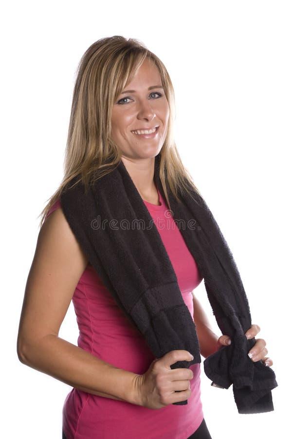 Frau mit Tuch um Schultern stockbild. Bild von nett, blick