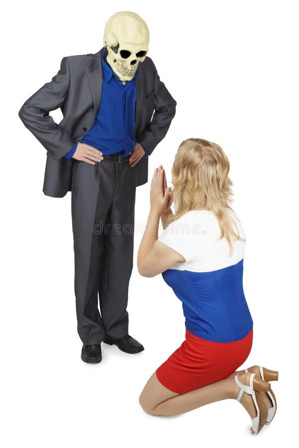 Frau plädiert für Gnadentod stockfotografie