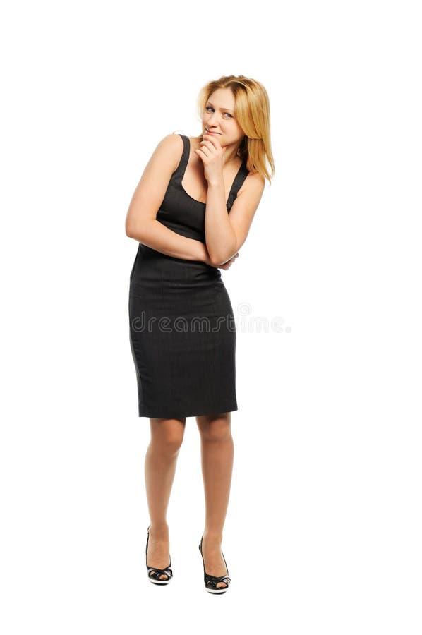 Frau schaut anerkennend lizenzfreies stockbild