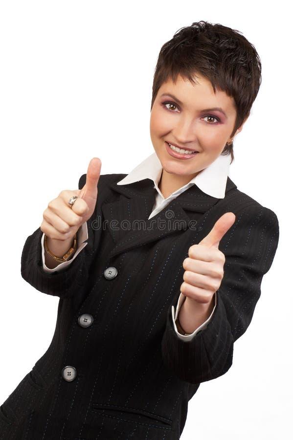 Frau und Erfolg stockfoto