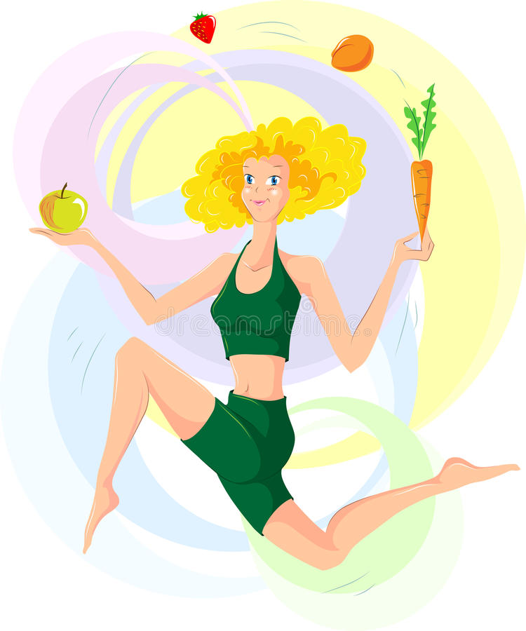 Frau und gesunde lebende Art lizenzfreies stockbild