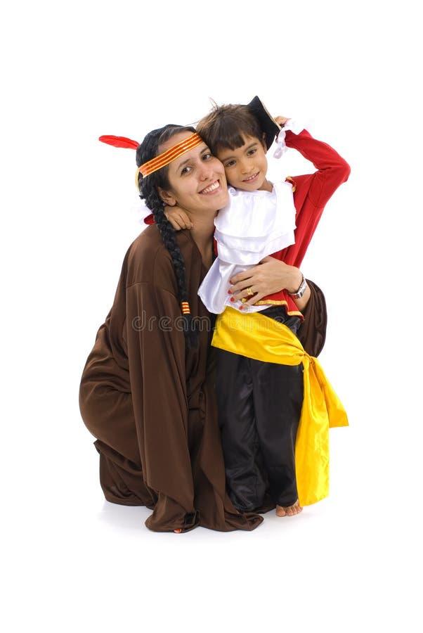 Frau und Kind lizenzfreie stockfotos