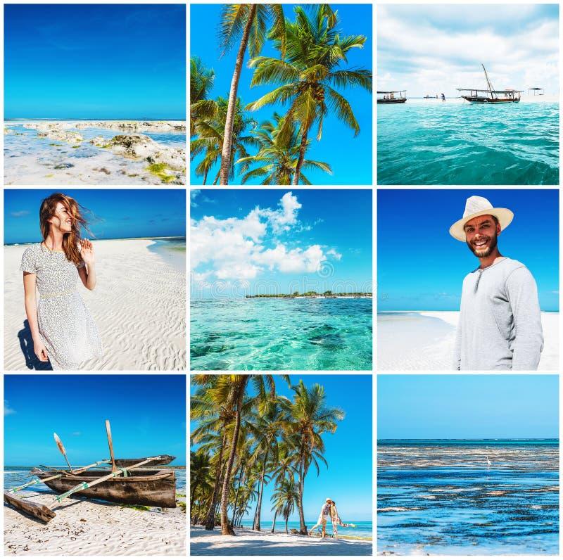 Frau und Mann auf tropischem Strand lizenzfreie stockfotografie