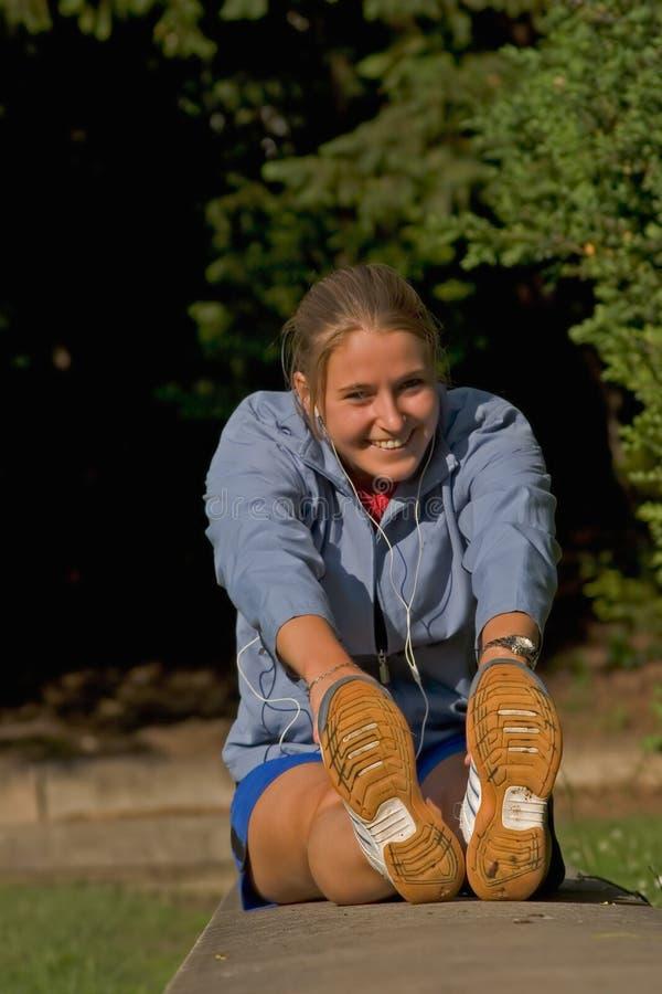 Frau und Sport stockfotografie