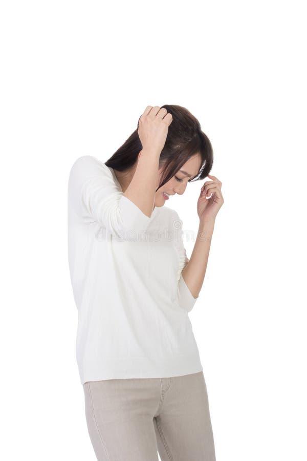 Frau unter Angriff stockbilder