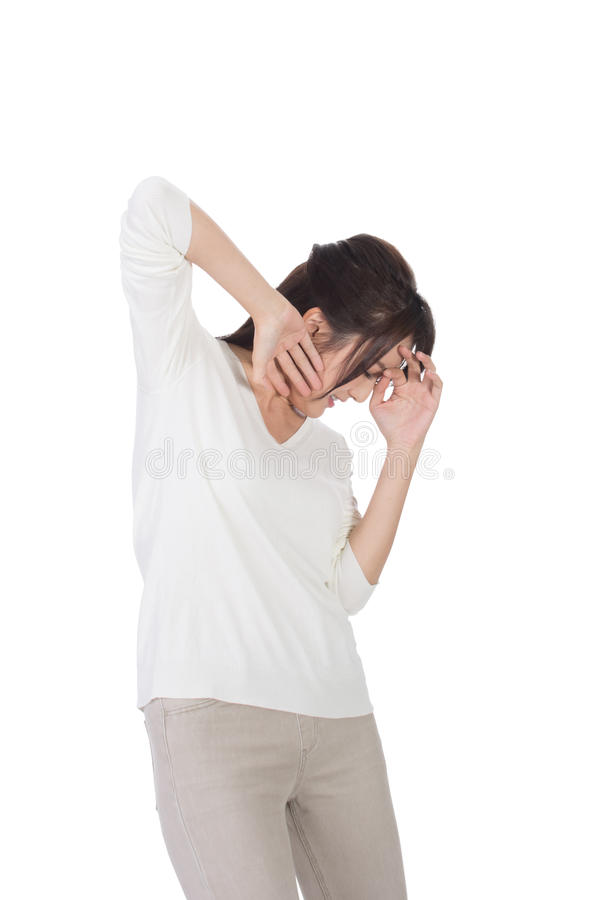 Frau unter Angriff stockfotos
