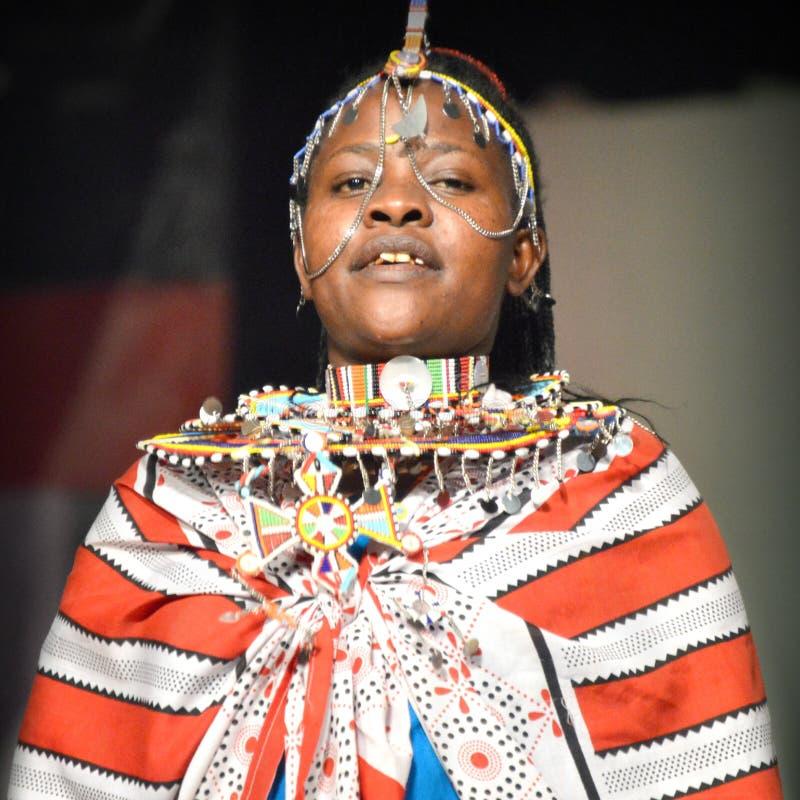 Frau von Kenia stockfotografie
