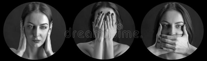 Frauabdeckungen eingestellt lizenzfreie stockfotos