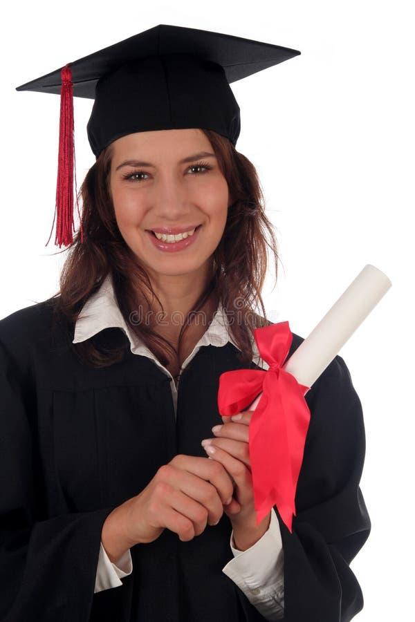Frauabsolvent lizenzfreie stockfotos