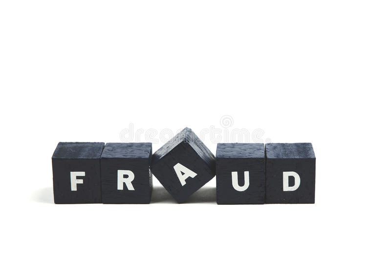 Fraud. The word fraud spelled out stock images