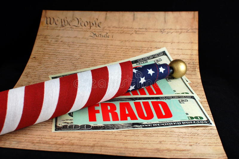 Fraud America royalty free stock images