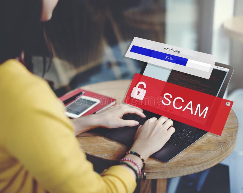 Fraud Hacking Spam Scam Phising Concept royalty free stock image