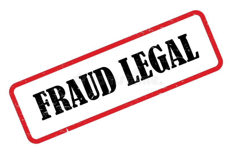 Fraud legal heading. Fraud legal stamped heading on white background stock illustration