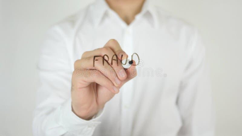 Fraude, écrite sur le verre photo libre de droits