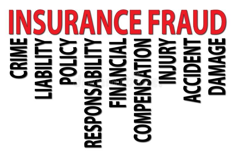 Fraude d'assurance illustration stock