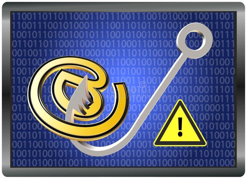 Fraude d'email de précaution illustration stock