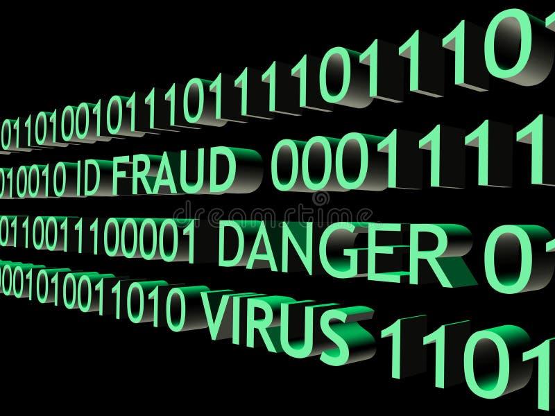 Fraude d'identification illustration de vecteur