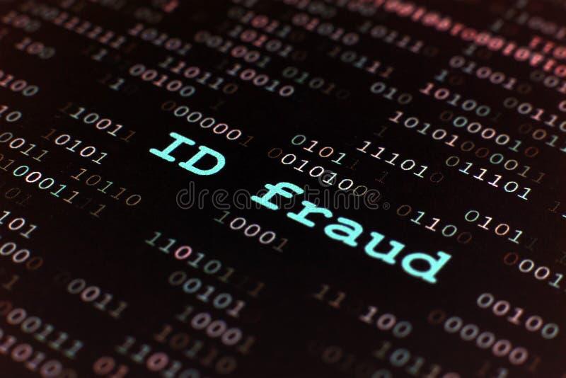 Fraude d'identification image libre de droits