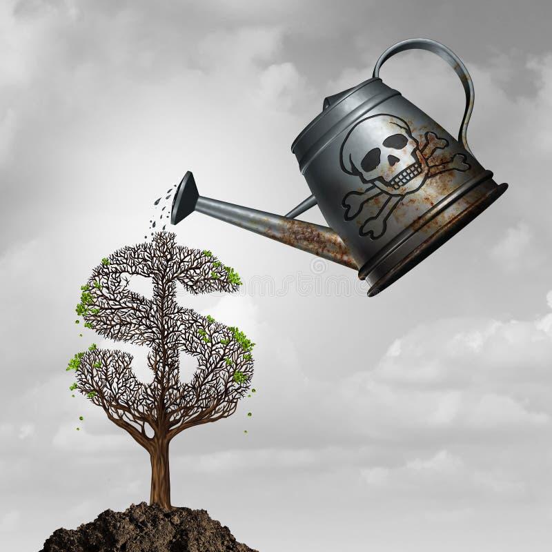 Fraude d'investissement illustration stock