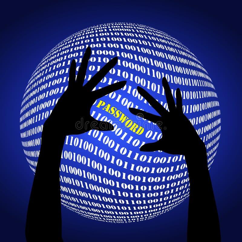 Fraude de mot de passe illustration libre de droits