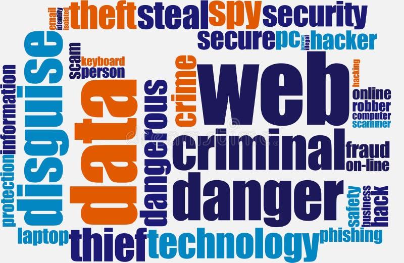 Fraude de Web illustration de vecteur