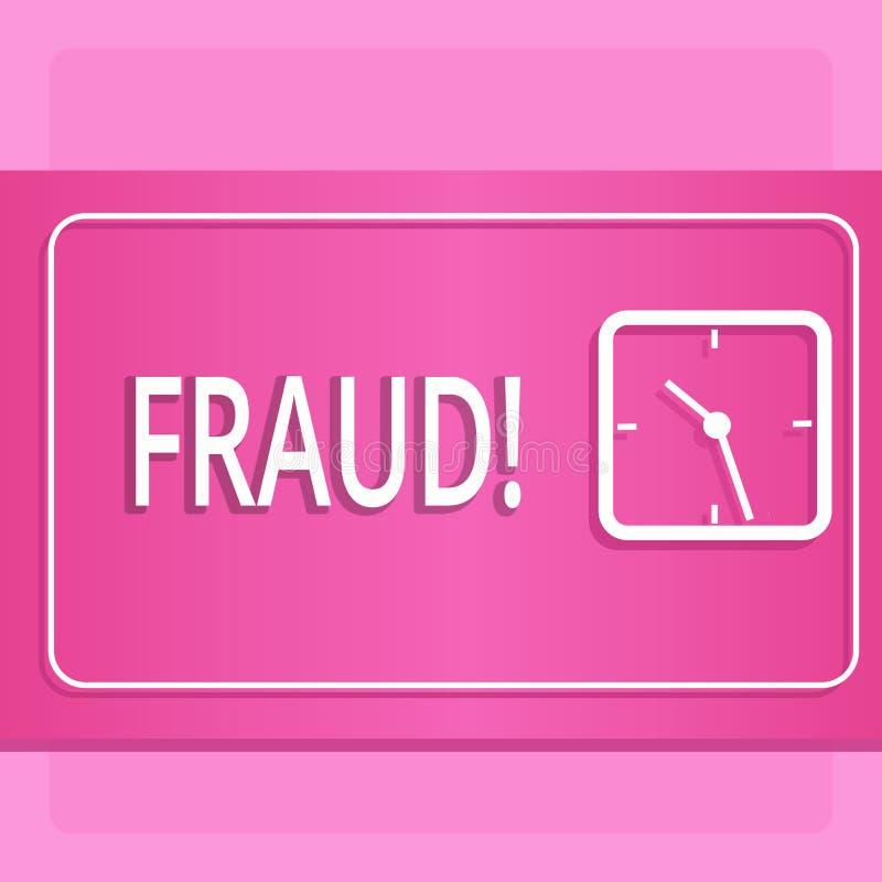 Fraude del texto de la escritura Concepto que significa el engaño criminal para conseguir aumento financiero o demonstratingal di libre illustration