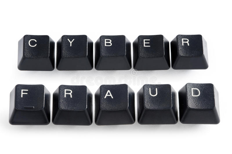 Fraude do Cyber imagem de stock