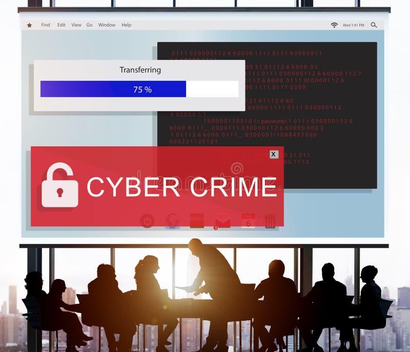 Fraude het Binnendringen in een beveiligd computersysteem het Concept van Spamscam Phising stock afbeelding