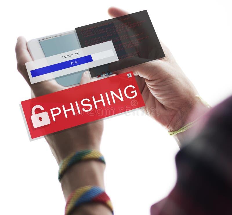 Fraude que corta o conceito de Scam Phising do Spam imagem de stock royalty free