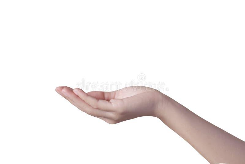 Frauen übergeben Isolat auf weißem Hintergrund lizenzfreies stockbild
