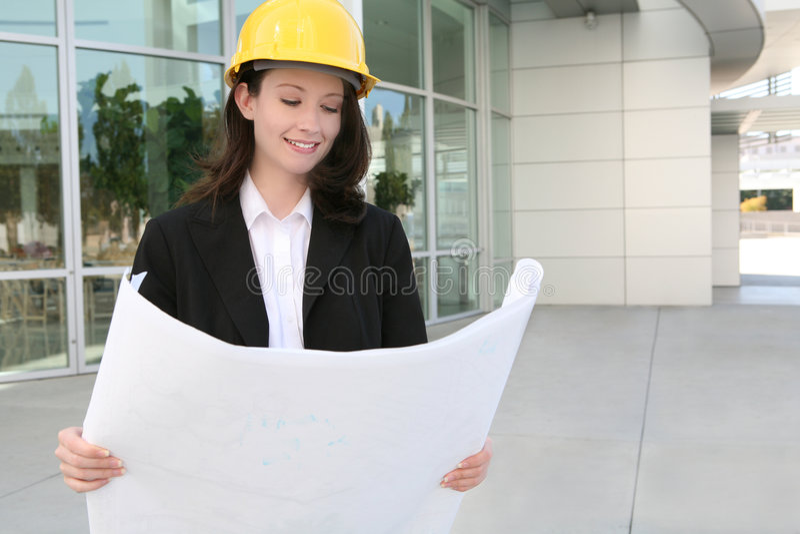 Frauen-Architekt lizenzfreie stockfotos