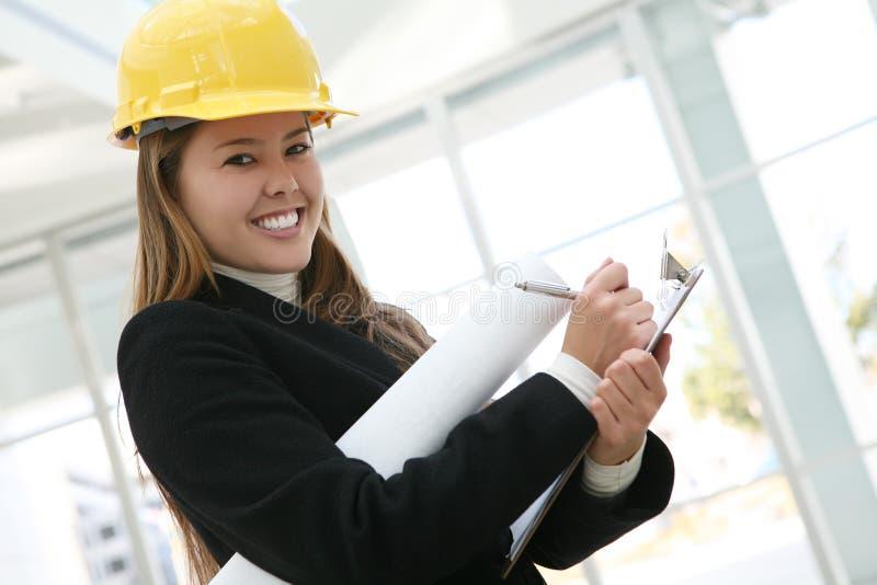 Frauen-Architekt lizenzfreies stockbild