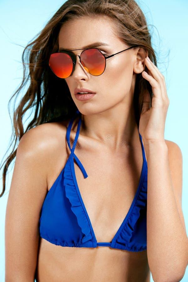 Frauen-Art Sexy Frauen-in Mode Sonnenbrille stockbilder