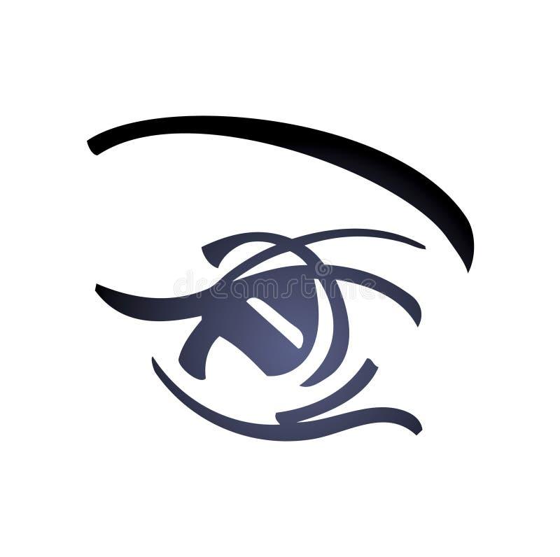 Frauen-Auge - vektorkunst stock abbildung
