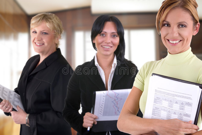 Frauen bei der Arbeit lizenzfreies stockfoto
