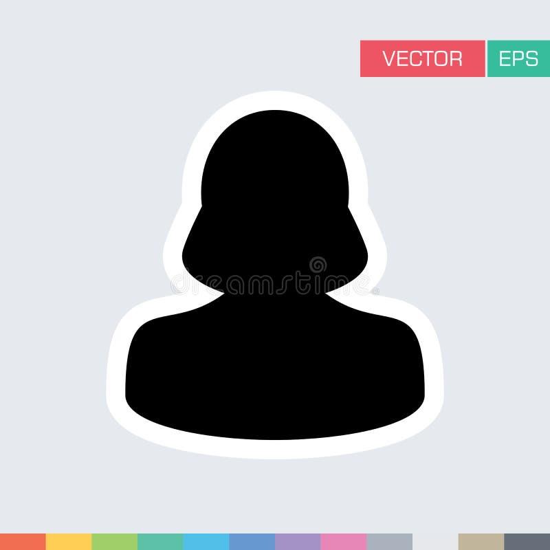 Download Frauen-Benutzer-Ikonen-flache Vektor-Person Profile Avatar-Illustration Vektor Abbildung - Illustration von leitprogramm, arbeitgeber: 96925428