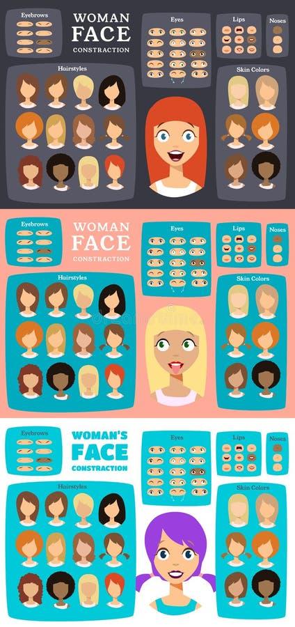 Frauen-Charakter-Erbauer lizenzfreie abbildung