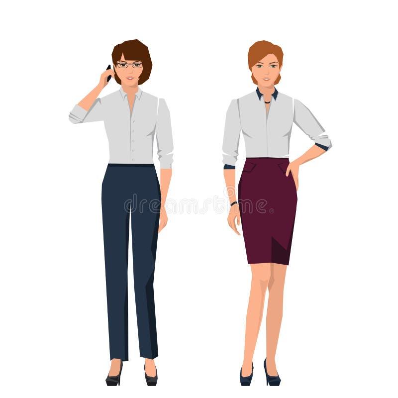 Frauen in den Klagen für Büro stock abbildung