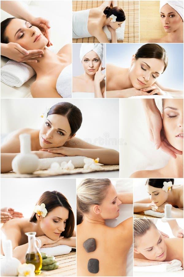 Frauen, die Badekur erhalten lizenzfreies stockfoto