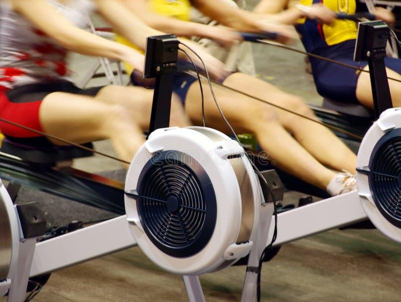 Frauen, die in der Gymnastik trainieren. stockbild