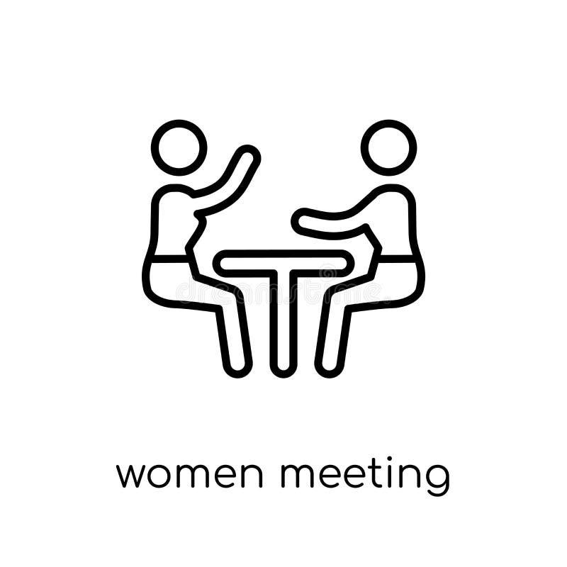 Frauen, die Ikone treffen E vektor abbildung