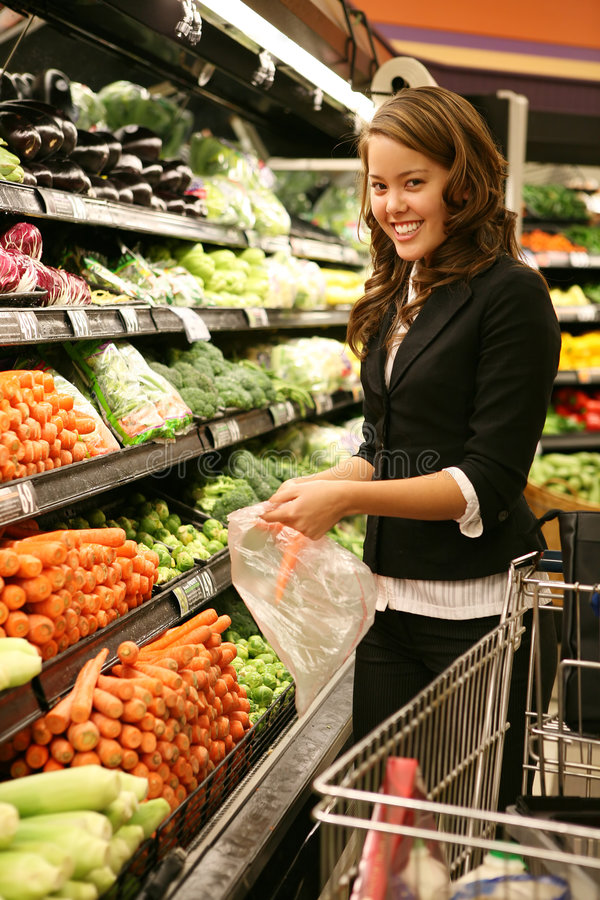 Frauen-Einkaufen stockbilder