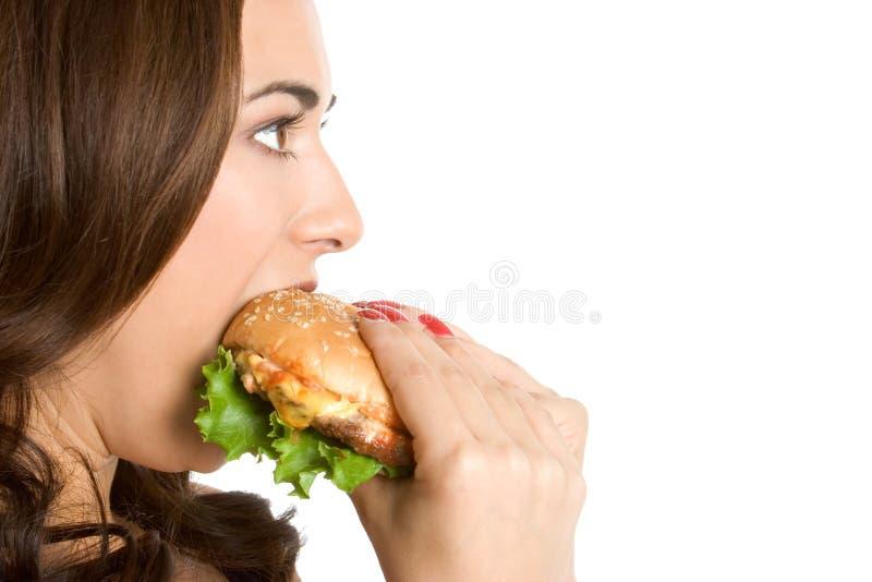 Frauen-Essen lizenzfreie stockfotografie