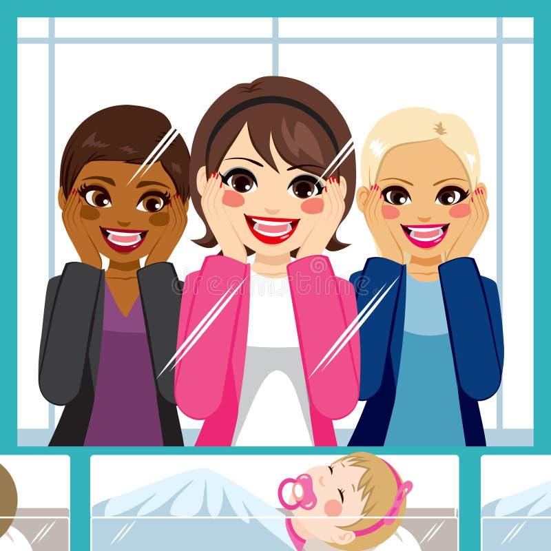 Frauen-Geburtsklinik lizenzfreie abbildung