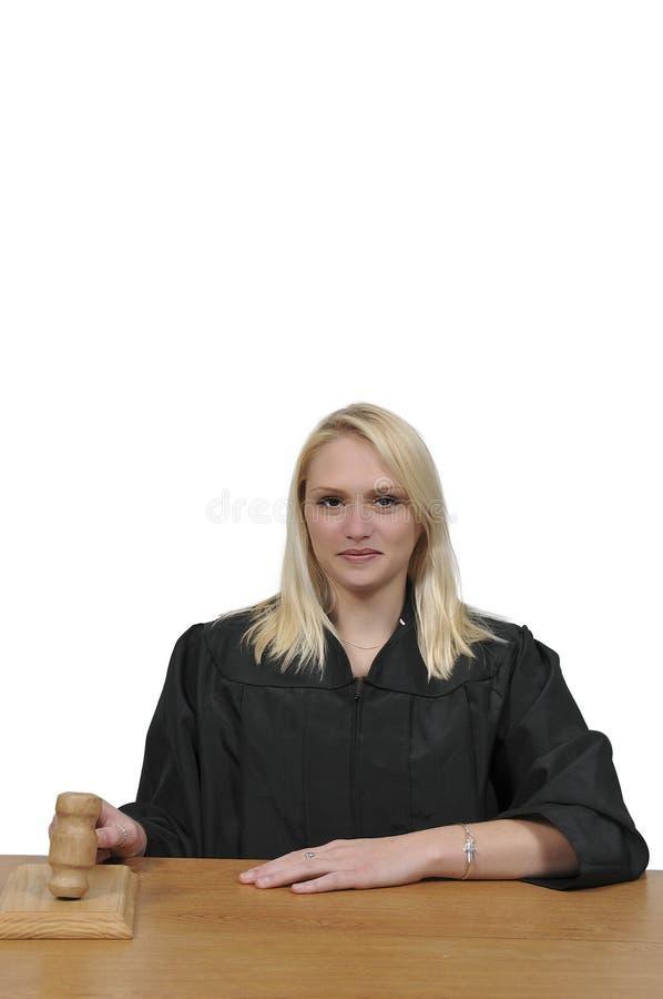 Frauen-Gerichts-Richter stockfotografie